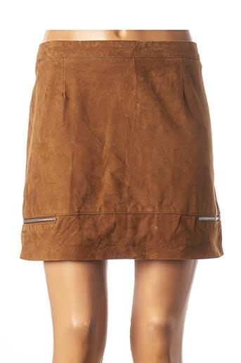 Jupe courte marron ROSE GARDEN pour femme
