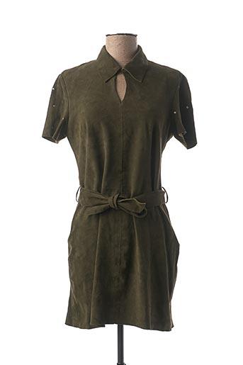 Robe courte vert ROSE GARDEN pour femme
