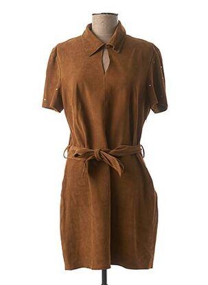 Robe courte marron ROSE GARDEN pour femme