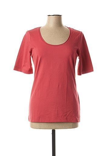 T-shirt manches longues rouge SANDWICH pour femme
