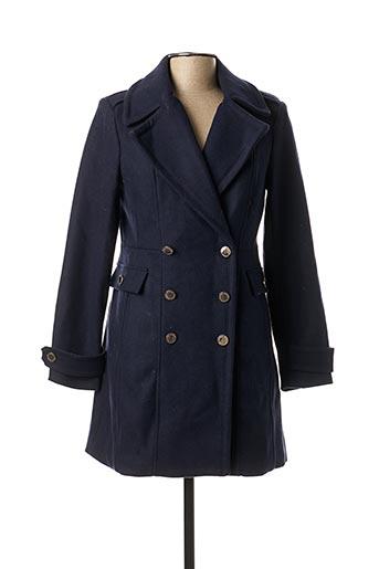 Manteau long bleu MORGAN pour femme