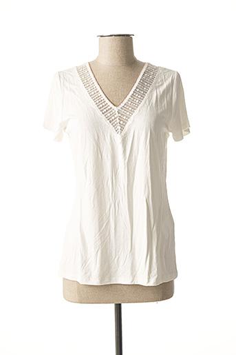 T-shirt manches courtes blanc MORGAN pour femme