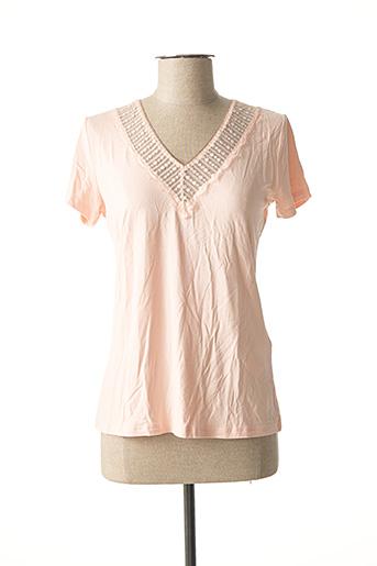T-shirt manches courtes rose MORGAN pour femme