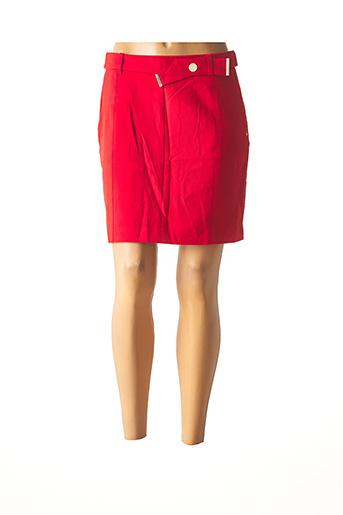 Jupe courte rouge MORGAN pour femme