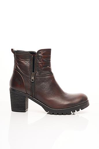 Bottines/Boots rouge BUNKER pour femme