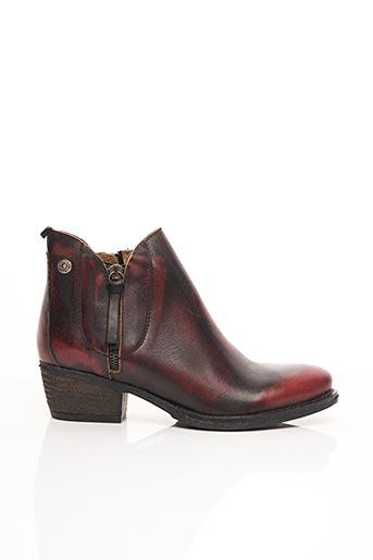 Bottines/Boots rouge COQUE TERRA pour femme