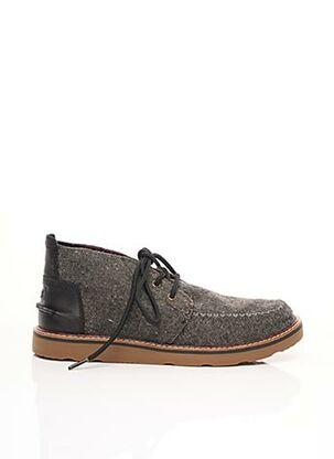 Chaussures bâteau gris TOMS pour homme