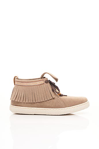 Bottines/Boots beige VICTORIA pour femme