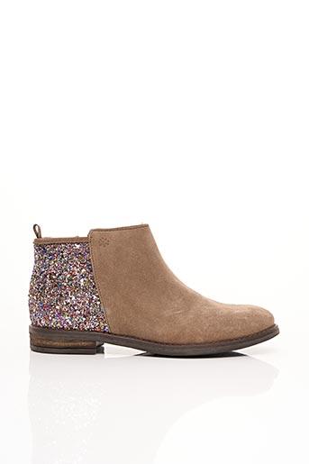 Bottines/Boots beige ACEBOS pour fille