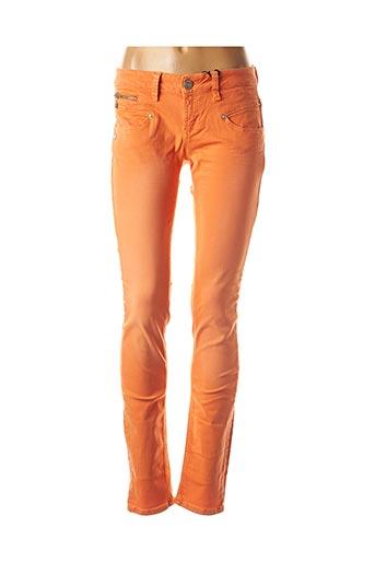 Pantalon casual orange FREEMAN T.PORTER pour femme