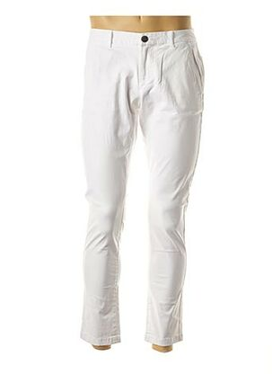 Pantalon casual blanc SUPERDRY pour homme