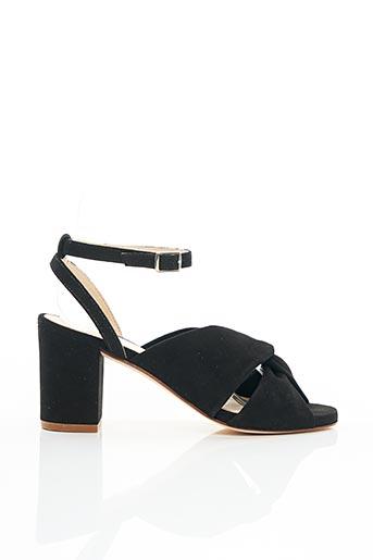Sandales/Nu pieds noir ANAKI pour femme