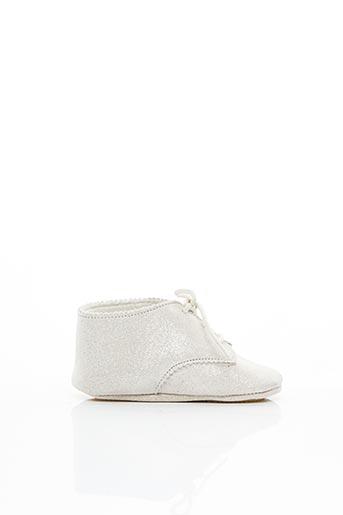 Chaussons/Pantoufles blanc PATT'TOUCH pour fille