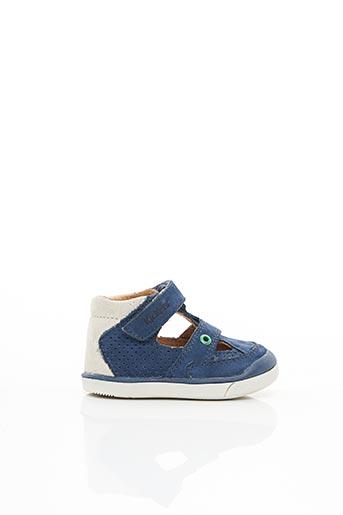 Sandales/Nu pieds bleu KICKERS pour enfant