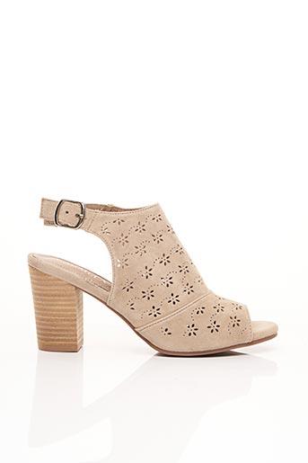Sandales/Nu pieds beige CARMELA pour femme