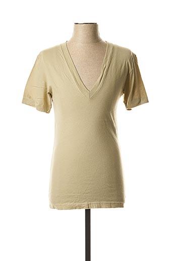 T-shirt manches courtes beige LASC pour homme