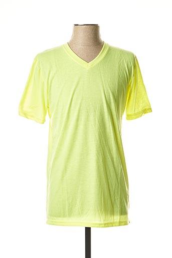 T-shirt manches courtes jaune BRAVE SOUL pour homme