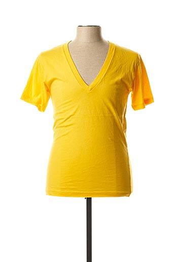 T-shirt manches courtes jaune LASC pour homme
