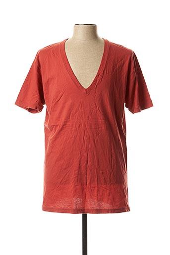 T-shirt manches courtes rouge LASC pour homme