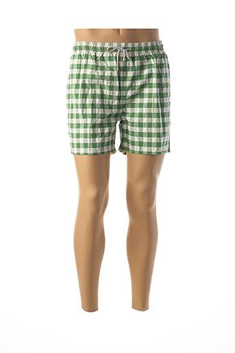 Short de bain vert C&O BEACH pour homme