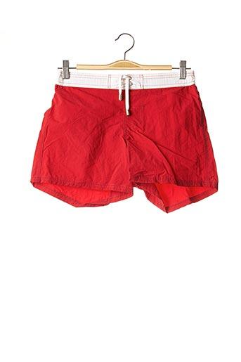 Short de bain rouge C&O BEACH pour homme
