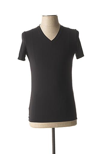 T-shirt manches courtes noir HOM pour homme