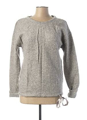 Pull col rond gris VOODOO pour femme