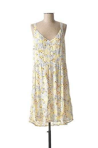 Robe mi-longue jaune VILA pour femme