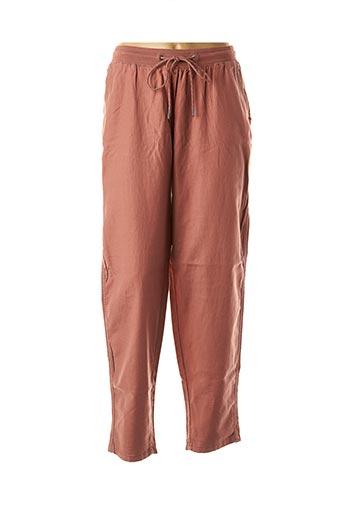 Pantalon casual rose EDC BY ESPRIT pour femme