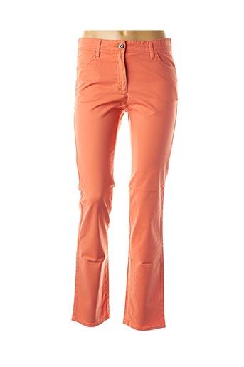 Jeans coupe droite orange COUTURIST pour femme