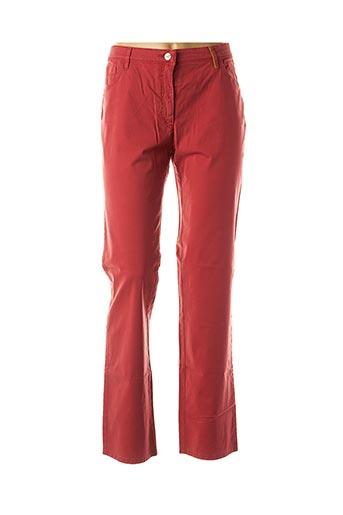 Jeans coupe droite rouge COUTURIST pour femme