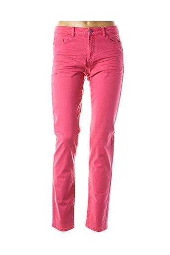 Jeans coupe slim rose EDC BY ESPRIT pour femme