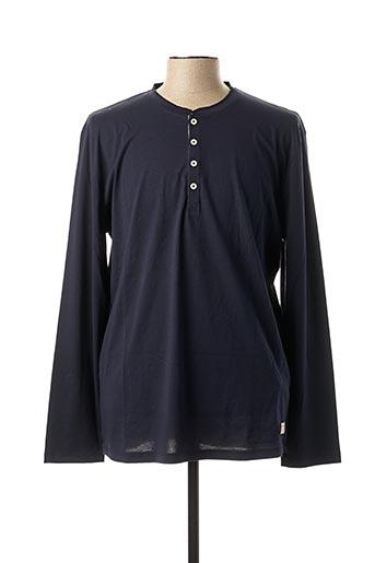 T-shirt manches longues bleu SELECTED pour homme