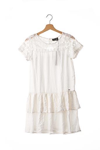 Robe mi-longue blanc BECKARO pour fille