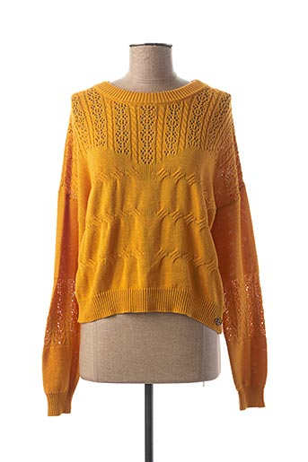 Pull col rond jaune CHIPIE pour fille
