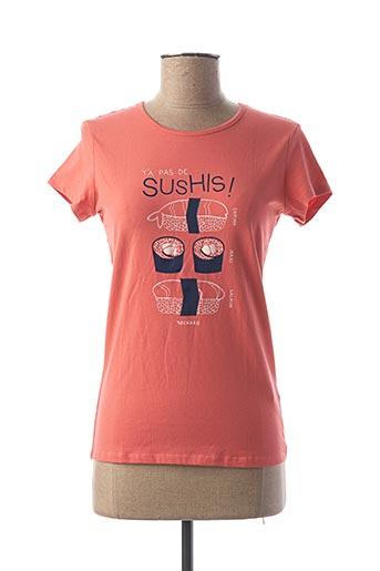 T-shirt manches courtes rose BECKARO pour fille