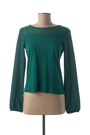 T-shirt manches longues vert BECKARO pour fille