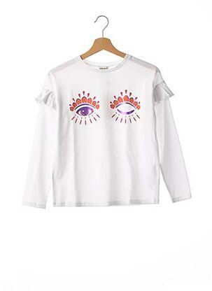 T-shirt manches longues blanc KENZO pour fille
