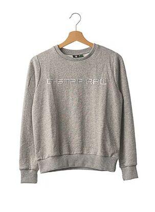 Sweat-shirt gris G STAR pour fille