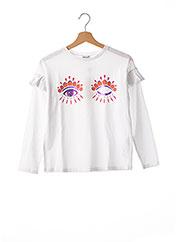 T-shirt manches longues blanc KENZO pour fille seconde vue