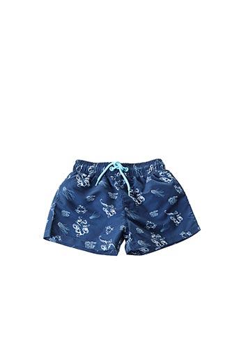 Short de bain bleu 3 POMMES pour garçon