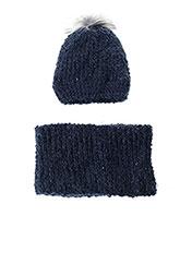 Bonnet bleu 3 POMMES pour fille seconde vue