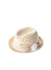 Chapeau beige 3 POMMES pour fille seconde vue
