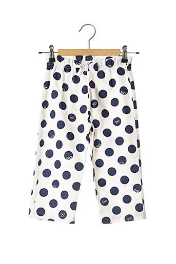 Pantalon casual blanc LILI GAUFRETTE pour fille