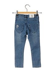 Jeans coupe slim bleu 3 POMMES pour fille seconde vue