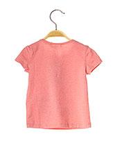 T-shirt manches courtes rose JEAN BOURGET pour fille seconde vue