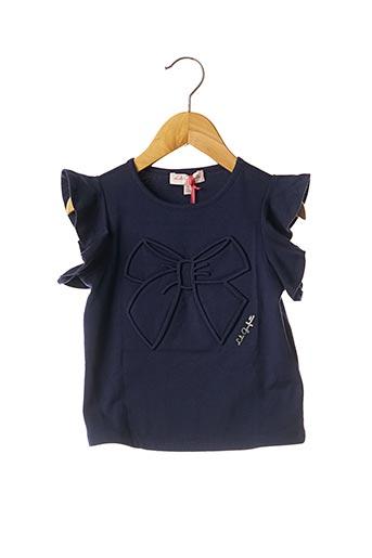 T-shirt manches courtes bleu LILI GAUFRETTE pour fille