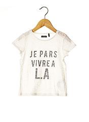 T-shirt manches courtes blanc IKKS pour fille seconde vue