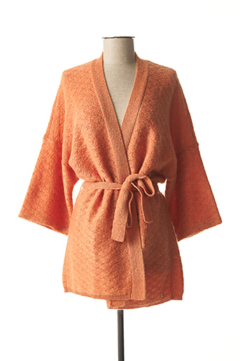 Gilet manches courtes orange DES PETITS HAUTS pour femme
