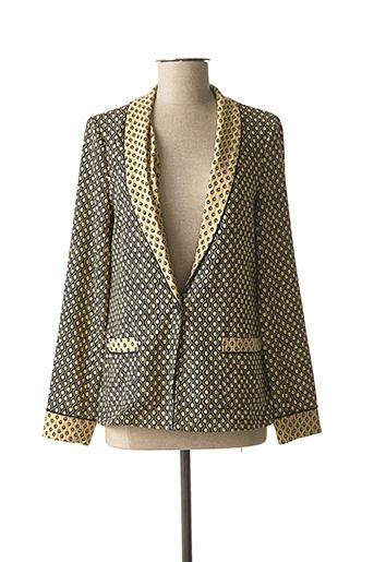 Veste en cuir beige SCOTCH & SODA pour femme